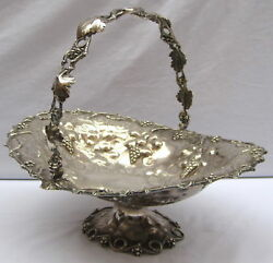 Magnificent American 1865 Ball Black And Co Sterling Silver Floral Basket