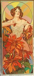 Magnificent Art Nouveau Painting On Panel By Ralph Allen Massey Signed And Dated