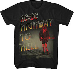 Official Ac/dc Highway To Hell Adult T-shirt - Acdc Rock And Roll Band Tour Tee