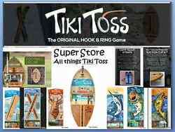 Original Tiki Toss Hook And Ring Game, Super Store 1-3 Day Delivery