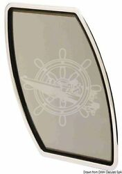 Bomar Flagship Boat Marine Portlight Right Stainless Steel 337x656mm