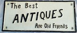 Magnificent English 19 C. Bronze Plaque The Best Antiques Are Old Friends