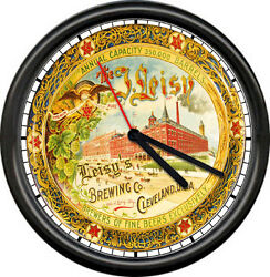 Leisyand039s Cleveland Beer Barrel Tavern Bar Game Room Brewery Sign Wall Clock