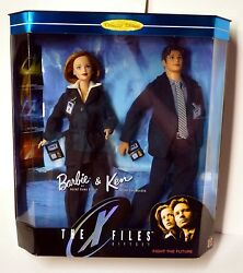 12 Barbie And Ken X-files Box Set 1998 Collector Edition Mattel Scully Mulder