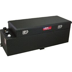 Rds 72548pc 60 Gallons Fuel Transfer Tank And Toolbox Combo Black Powdercoated