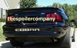 For Ford Mustang Coupe Un-painted-primer Saleen-style Rear Spoiler 1994-1998
