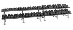 Hampton 2.5 lb to 100 lb 26 Pair Dura-Bell Dumbbell Set With 2 Racks