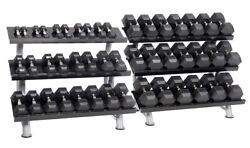 Hampton 2.5 lb to 100 lb 23 Pair Dura-Bell Dumbbell Set With 2 Racks