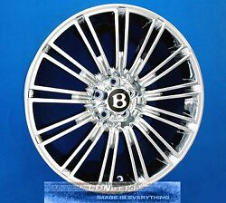BENTLEY CONTINENTAL GT SPEED 20 INCH CHROME WHEELS RIMS CFS FLYING SPUR MULLINER