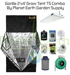 2' x 4' Gorilla Grow Tent 324W T5 Combo Package #1 with FREE SHIPPING