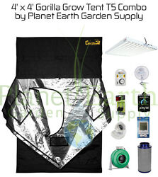 4' x 4' Gorilla Grow Tent 648W T5 Combo Package #1 with FREE SHIPPING