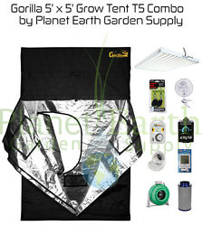 5' x 5' Gorilla Grow Tent 648W T5 Combo Package #1 with FREE SHIPPING.