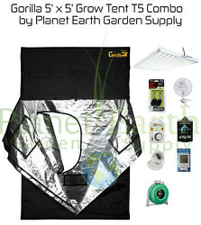 5' x 5' Gorilla Grow Tent 648W T5 Combo Package #2 with FREE SHIPPING.