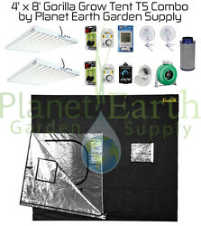 4' x 8' Gorilla Grow Tent 1296W T5 Combo Package #2 with FREE SHIPPING.