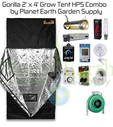 2' x 4' Gorilla Grow Tent Kit 400W HPS Combo Package #2 with FREE SHIPPING.