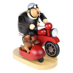 Riding Motorcycle Made In Germany Side Dog Car Incense Wooden Smoker