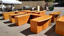 Desk U-shaped 3 Piece Wood Creative Wood Products We Deliver Locally Nor Ca