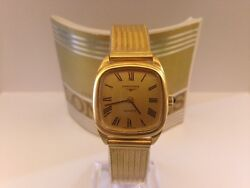 Orologio Watch Longines Classic Quartz With Roman Hours And Cabochon Crown Gold