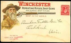 Winchester Repeating Rifles And Shotguns Advt Gun Cover Minor Stains Bt2872