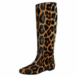 Giuseppe Zanotti Design Womenand039s Pony Hair Leather Boots Shoes 5 7 8 9 10 11 12
