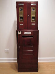 Antique Posting Box Post Office Uk Postage Stamps Mail Letter Vending Chubb Lock