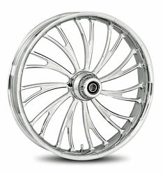 Rc Components Chrome Axxis 16 Front Wheel And Tire Harley 08-17 Flh W/o Abs