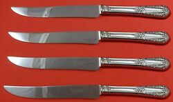 Inaugural By State House Sterling Silver Steak Knife Set 4pc Texas Sized Custom