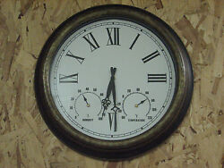 Large Clock with Thermometer and Humidty Meter