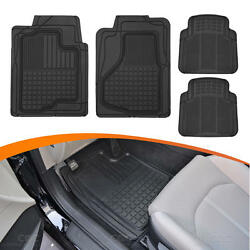 Weatherproof Rubber Floor Mats For Car Auto Motor Trend Odorless 4pc Front/rear