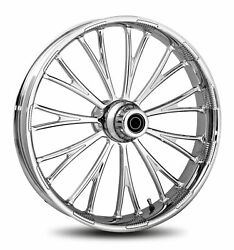 Rc Components Chrome Dynasty Accent 18 Front Wheel And Tire Harley 07-16 Flst/n