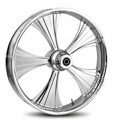 Rc Components Chrome Helo 16 Front Wheel And Tire Harley 00-06 Fl Softail