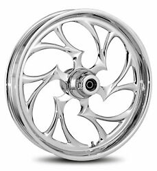 Rc Components Chrome Shifter 21 Front Wheel And Tire Harley 07-16 Flst W/ Abs