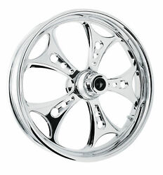 Rc Components Chrome Holeshot 19 Front Wheel And Tire Harley 08-17 Flh/t W/ Abs