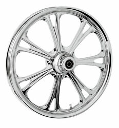 Rc Components Chrome Epic 18 Front Wheel And Tire Harley 00-07 Flh/t