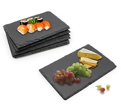Tapas Appetizers Cheese Sushi Serving Dishes Set Slate Board Dining Buffet 6pcs