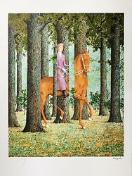 Rene Magritte - The Blank Signature Signed And Numbered Lithograph