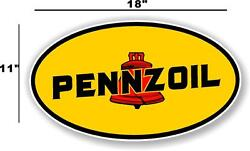 Penn-1 18 Early Pennzoil Oil Lubster Front Decal Gas Pump Sign Gasoline