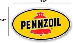 Penn-2 24 Pennzoil Oil Lubster Front Decal Gas Pump Sign Gasoline