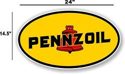 Penn-1 24 Early Pennzoil Oil Lubster Front Decal Gas Pump Sign Gasoline