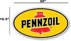 Penn-2 28 Pennzoil Oil Lubster Front Decal Gas Pump Sign Gasoline