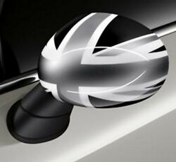 Oem Mini Cooper Driver And Passenger Side Mirror Covers Black Jack Non-powerfold