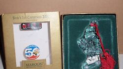 2000 Baby's 1st Christmas Ornament Woodstock Peanuts Marquis Waterford Crystal