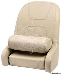 Osculati Compact Padded Seat With Plastic-alu Core Coated In Soft Beige Vinyl