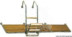 Osculati Ss Tube Stern Platform With Iroko Wooden Parts For Stern Mounting