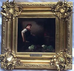 Magnificent 19c O/b German Painting By Michael Max Listed Artist
