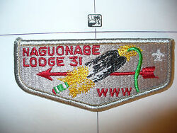 Oa Naguonabe Lodge 31,s-6c,1970s Tilted Feather Flap,no Trade, Real,st. Cloud,mn