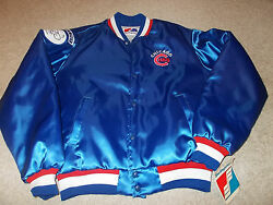 Vtg-new W/tags Rare 1990s Chicago Cubs Harry Caray Swingster Satin Nylon Jacket