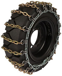 36x13.50-15 Skid Steer Tire Chains 8mm Square 2-link Spacing Bobcat Traction