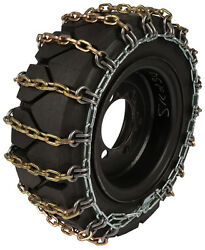 31x15.50-15 Skid Steer Tire Chains 8mm Square 2-link Spacing Bobcat Traction