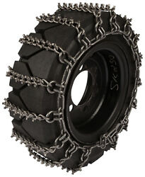 31x15.50-15 Skid Steer Tire Chains 8mm Studded 2-link Spacing Bobcat Traction